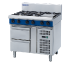Prime Cooking Gas, Ranges 6 Burner Gas, Blue Seal G516D-RB - *Warranty only valid for installations in Mainland UK*
